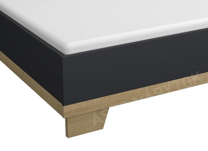 30a9e57cdbb8b Posteľ Altona 180x200 cm, dub riviéra/tmavo šedá | ASKO - NÁBYTOK