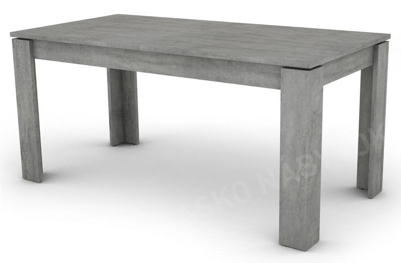 6ebb2ca47c591 Jedálenský stôl Inter 160x80 cm, šedý betón, rozkladacia   ASKO ...