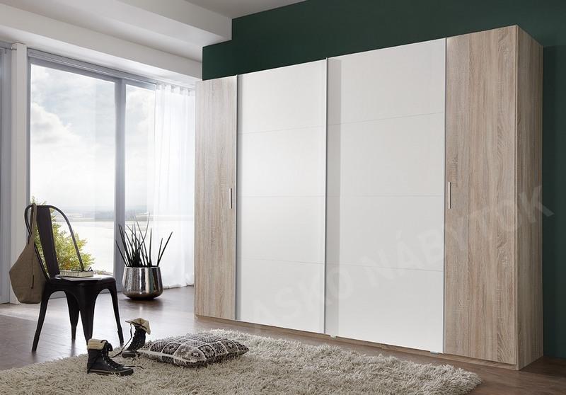 atn kov skri a lotto dub sonoma biela asko n bytok. Black Bedroom Furniture Sets. Home Design Ideas