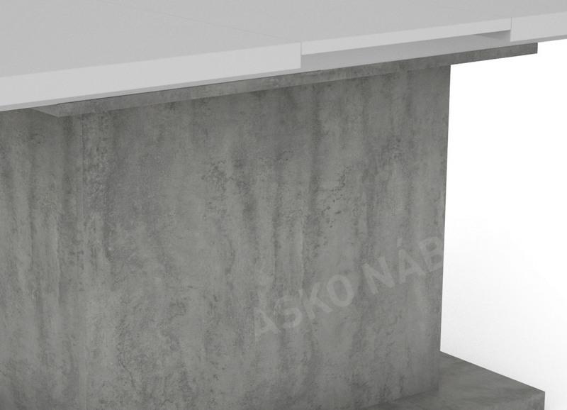d0c8cd67492d6 Jedálenský stôl Paulo 160x90 cm, biely/beton, rozkladací   ASKO ...