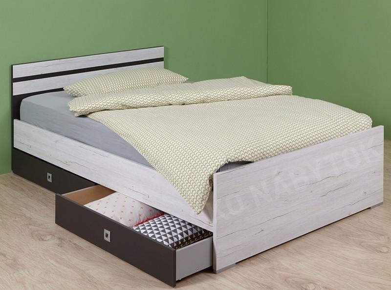 605c4df063692 ... Sada úložných zásuviek pod posteľ Cariba, bielený dub/lávová, na  kolieskach ...