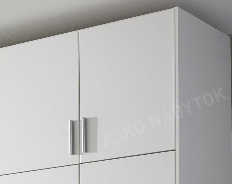 3202180e08bea Šatníková skriňa Hildesheim, 271 cm,biela / biela | ASKO - NÁBYTOK