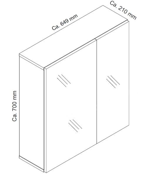 b5664f1a1 Kúpeľňová skrinka so zrkadlom Porto, dub sonoma | ASKO - NÁBYTOK