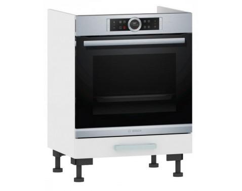 Kuchynská skrinka pre vstavanú rúru One ES60ER, biely lesk, šírka 60 cm%