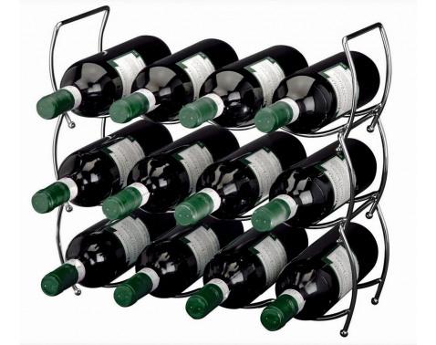 Stojan na víno (3 ks) kovový%