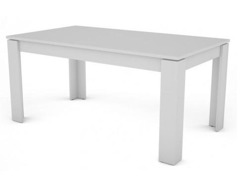 Jedálenský stôl Inter 160x80 cm, biely, rozkladací%