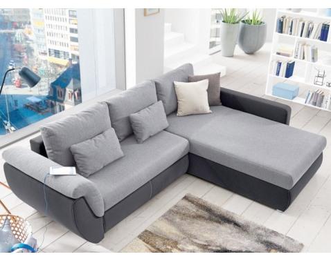 Rohová sedacia súprava Torgau, šedá/svetlo šedá tkanina%