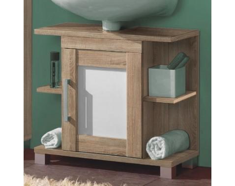 Kúpeľňová skrinka pod umývadlo Poseidon, dub Sonoma