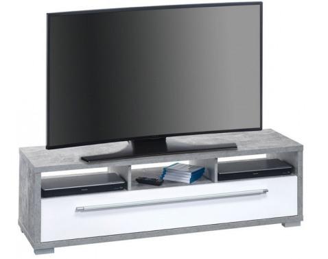 TV stolík Glanz 7645, betón / biely lesk%