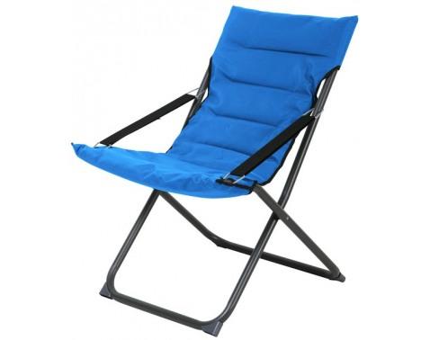 Skladacia záhradná stolička Bibione, modrá%