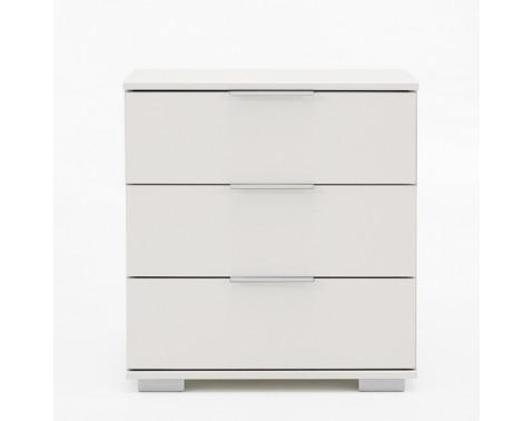 E-shop Nočný stolík Easy Plus, alpská biela, 3 zásuvky