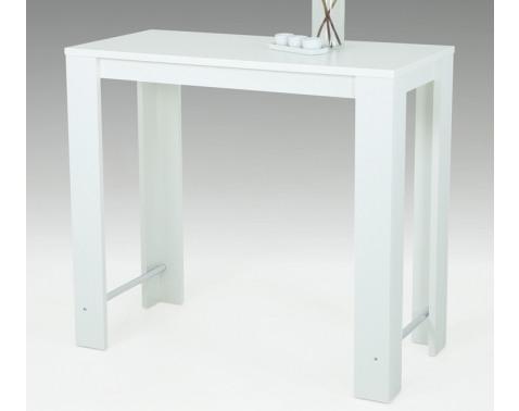 E-shop Barový stôl Frieda 120x58 cm, biely