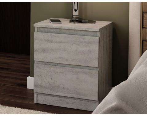 E-shop Skrinka /nočný stolík Carlos 402S, šedý beton