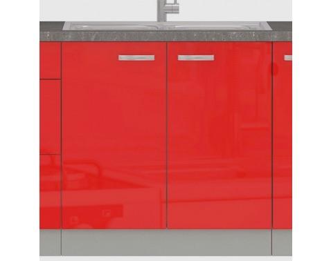Kuchynská drezová skrinka Rose 80ZL, 80 cm, červený lesk%