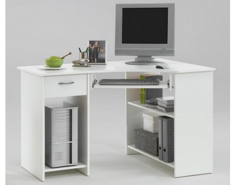PC stôl Felix 1, biely%