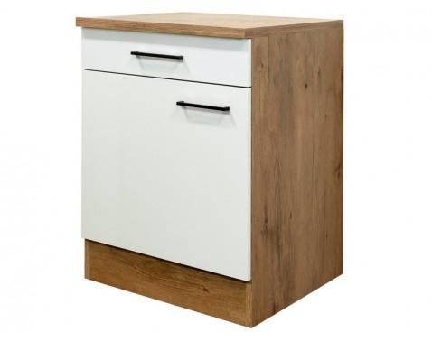 Dolná kuchynská skrinka Avila US60, dub lancelot / krémová, šírka 60 cm%