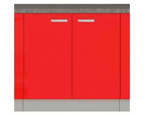 Dolná kuchynská skrinka Rose 80D, 80 cm, červený lesk%