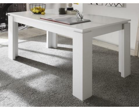 Jedálenský stôl Universal 160x90 cm, biely