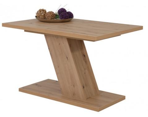 Jedálenský stôl Zita 120x80 cm, dub artisan, rozkladací%
