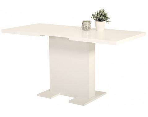 Jedálenský stôl Lisa 110x70 cm, biely, rozkladací%