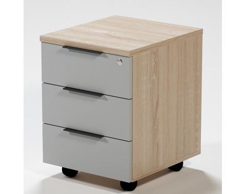 Zásuvkový kontajner na kolieskach Home Office, dub sonoma / svetlošedá%