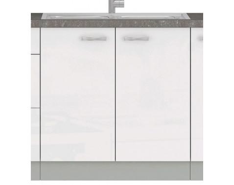 Kuchynská drezová skrinka Bianka 80ZL, 80 cm, biely lesk%