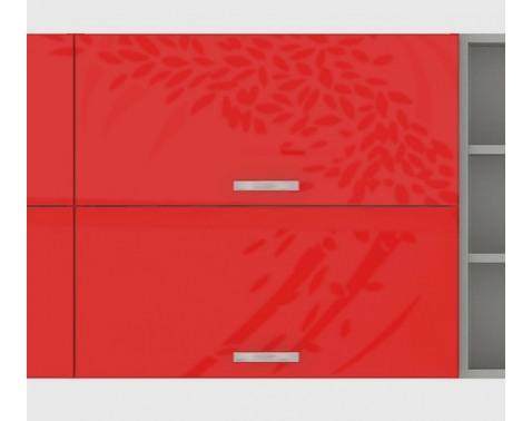 Horná kuchynská skrinka Rose 80GU, 80 cm, červený lesk%