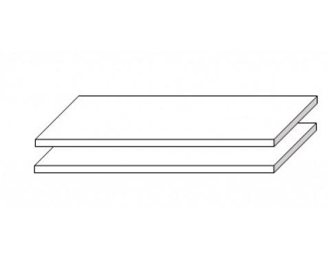 Set políc do skrine (2 ks) Sarnia, 105 cm%