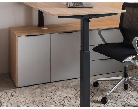 Zostava 2 skriniek k písaciemu stolu Home Office, dub sonoma/svetlosivá%