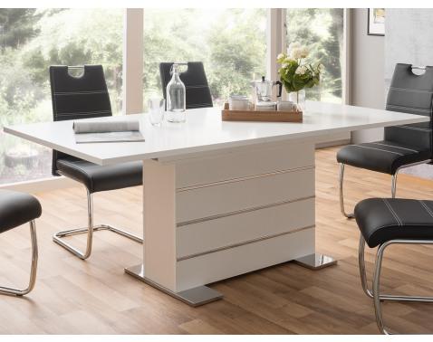 Rozkladací jedálenský stôl Manto 160x90 cm, biely%