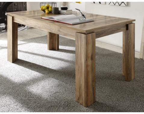 Jedálenský stôl Universal 160x90 cm, saténový orech