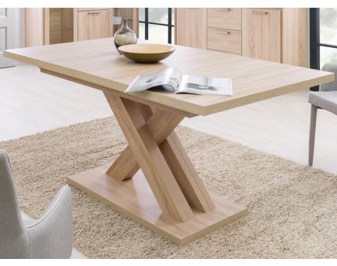 Rozkladací jedálenský stôl Avanti 160x90 cm, dub sonoma%