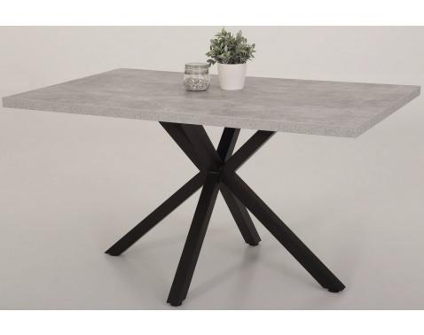 E-shop Jídelní stůl Cleo 140x90 cm, šedý beton