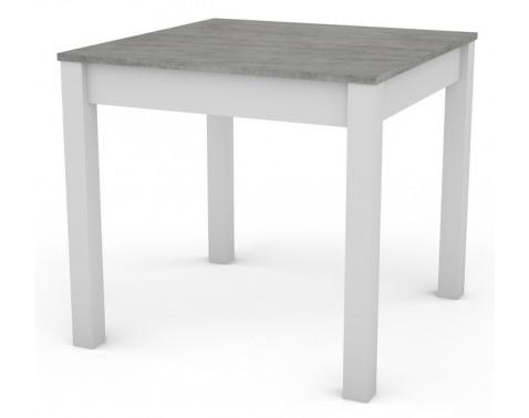 Jedálenský stôl David 80x80 cm, bílý/šedý beton%
