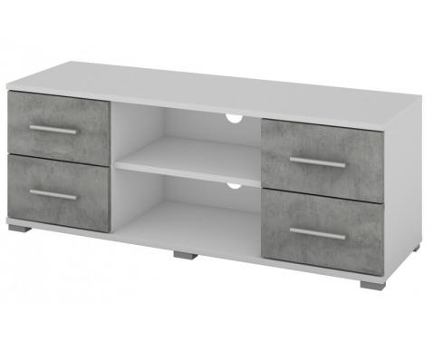 TV stolík Oskar TV, biely/beton, šírka 120 cm%