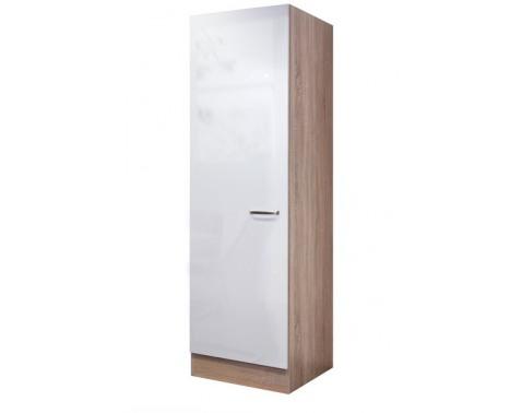 Vysoká kuchynská skriňa Valero GE50, dub sonoma/biely lesk, šírka 50 cm%