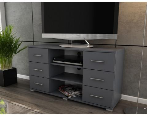 Vysoký TV stolík Oskar TV, grafitový, výška 65 cm