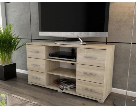 Vysoký TV stolík Oskar TV, dub sonoma, výška 65 cm%