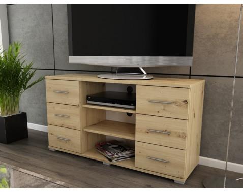 Vysoký TV stolík Oskar TV, dub artisan, výška 65 cm