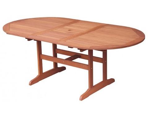 Rozkladací záhradný stôl Oval 152x107 cm