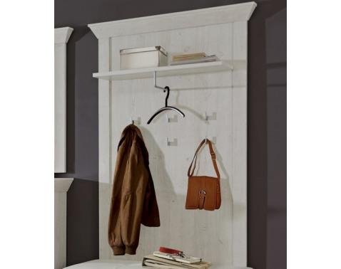 E-shop Nástenný vešiakový panel Kashmir D50, bielená borovica