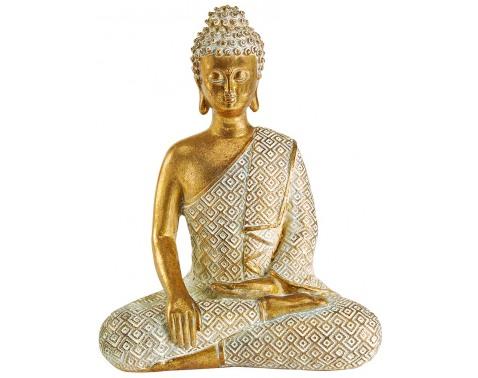 Zlatá soška Buddha, výška 19,5cm%