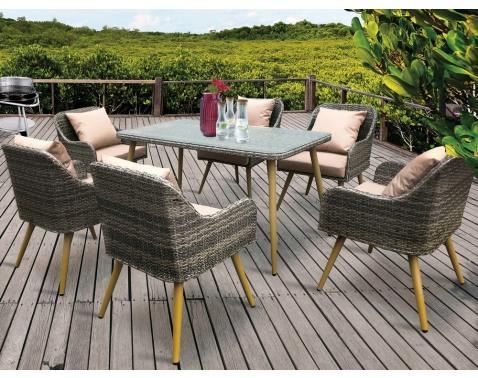 Jedálenský set záhradného nábytku Tropicana (7 dielov)%
