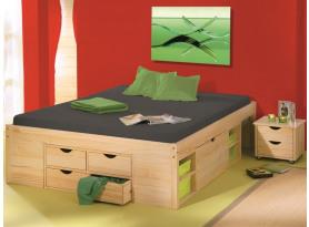 be689f6595f6 Úložná posteľ s nočnými stolíkmi Claas 160x200 cm