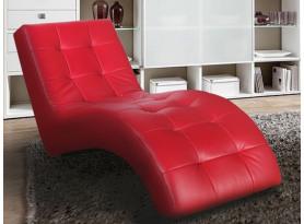 Relaxačné ležadlo Laguna, červená ekokoža
