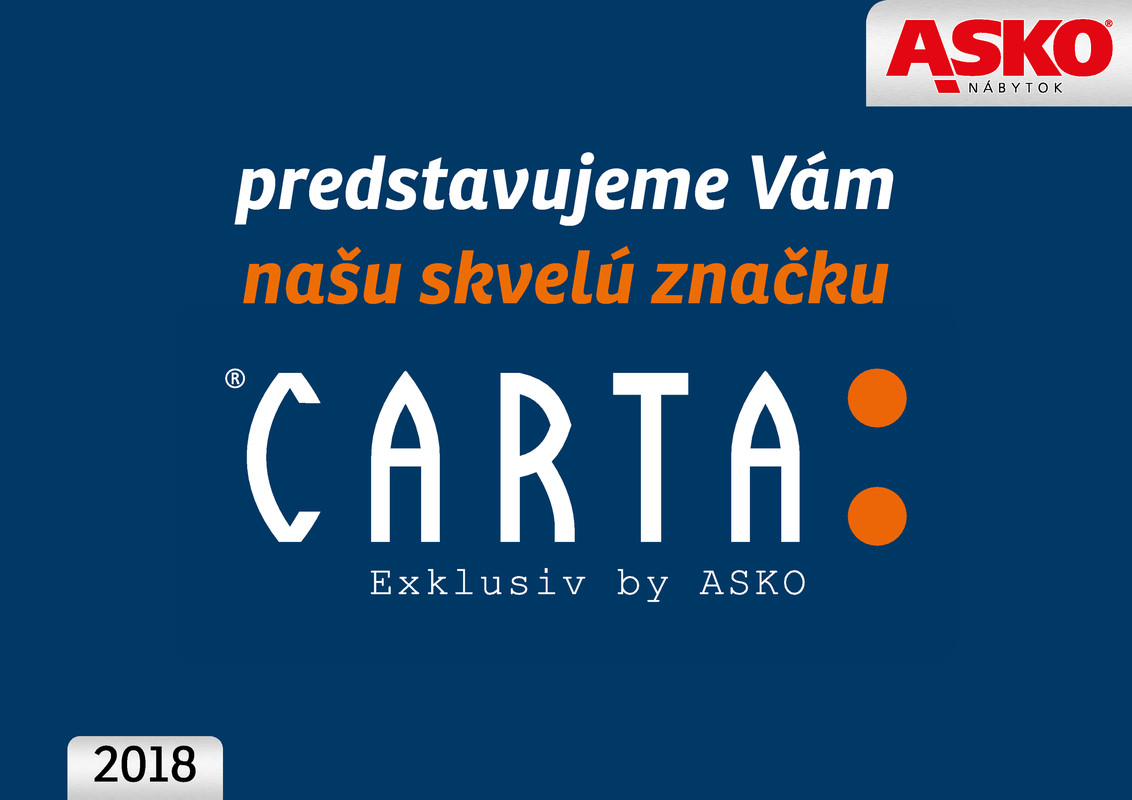 ASKO - NÁBYTOK Katalóg nábytok Carta