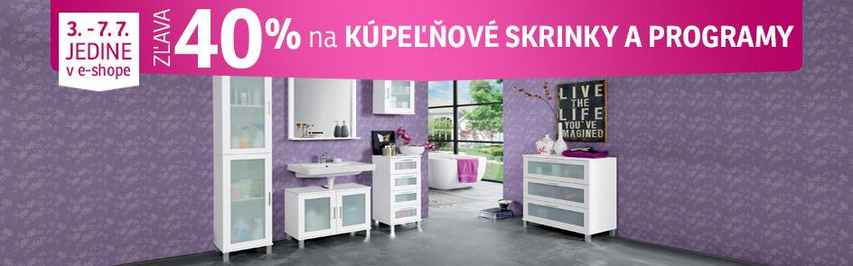 27c2172aa ASKO - NÁBYTOK · Novinky; ZĽAVA 40% na kúpeľňové programy a kúpeľňové  skrinky