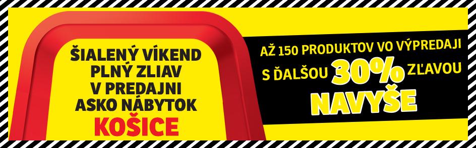 Šialený víkend plný zliav v predajni ASKO - NÁBYTOK KOŠICE ba0feaf20cc